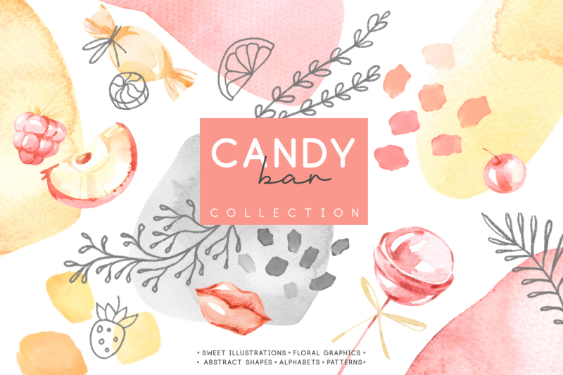 candy-bar-watercolor-collection