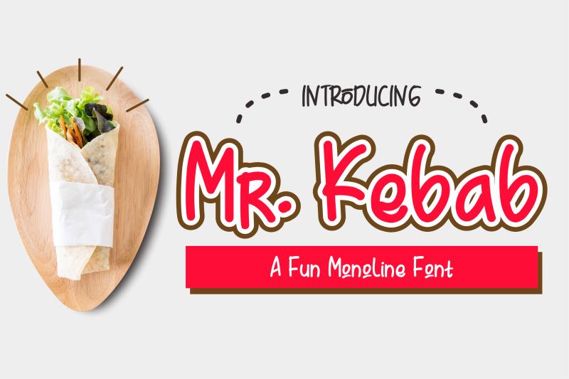 mr-kebab-a-fun-monoline-font