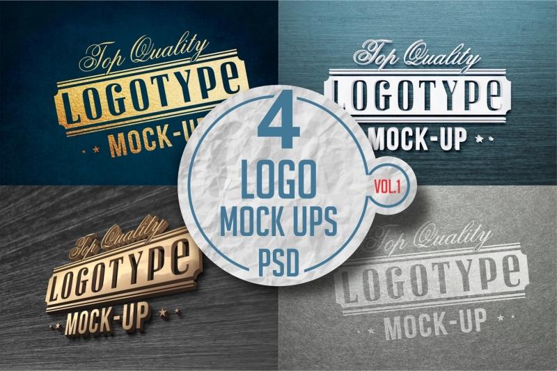 Free Logo Mock-up Pack Vol.1 (PSD Mockups)