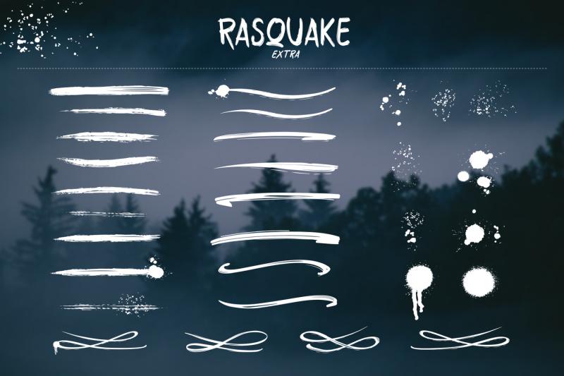 rasquake-brush-font-extra-swashes