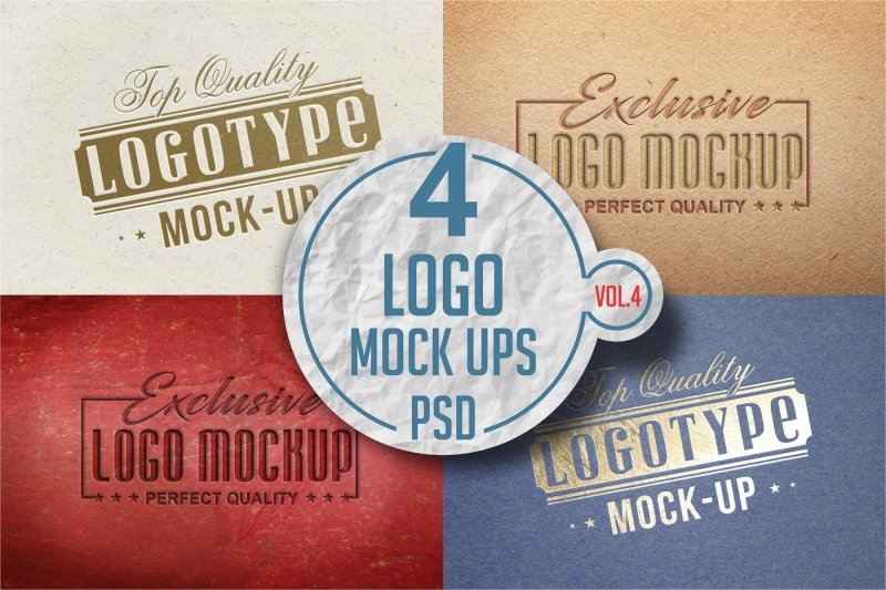 Free Logo Mock-up Pack Vol.3 (PSD Mockups)