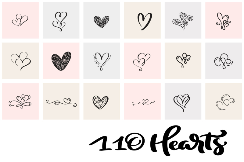 valentine-vector-hand-draw-hearts