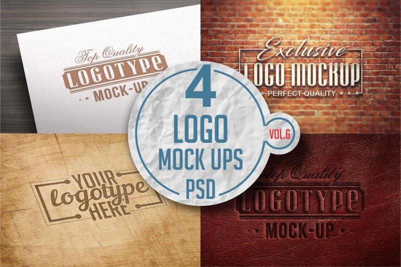 Free Logo Mock-up Pack Vol.6 (PSD Mockups)