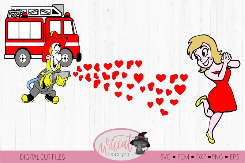 fire-man-firefighter-couple-shirt-fcm-svg-dxf-png-file