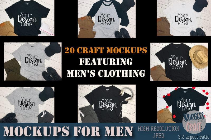 Free Men's clothing Craft mock ups | High Resolution JPEG's (PSD Mockups)