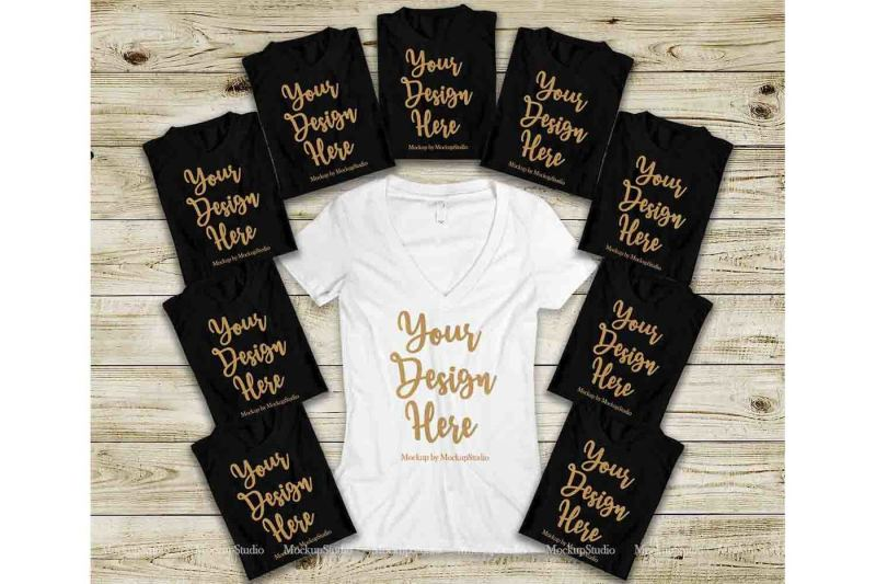 Free Bachelorette Party Shirts Mockup, Bridal Squad T-Shirts (PSD Mockups)