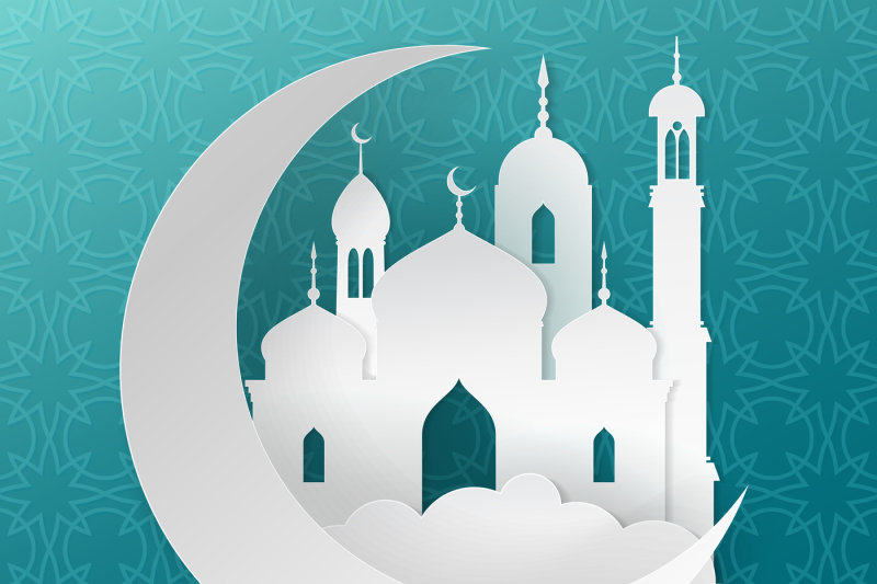 ramadan-kareem-islamic-greeting-vector-background-with-paper-mosque