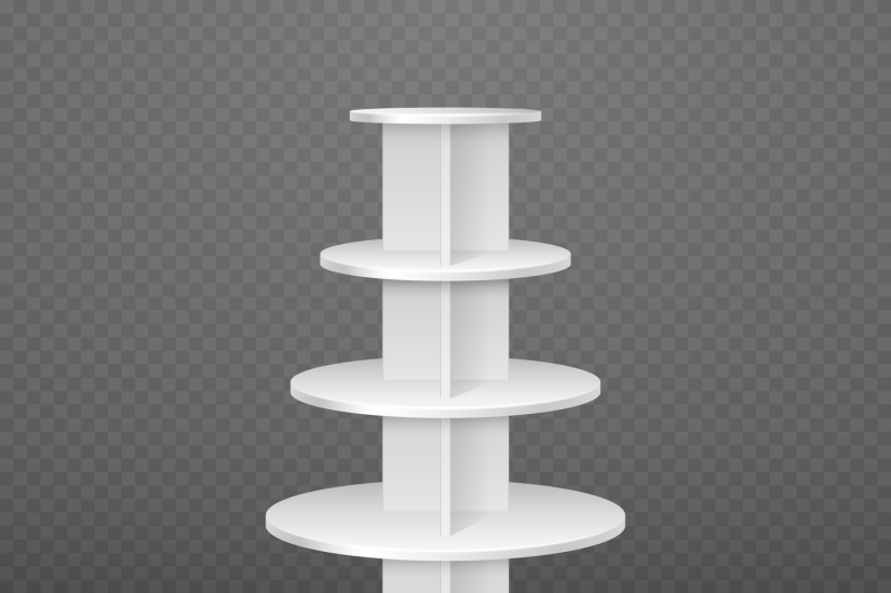 white-blank-products-display-supermarket-stand-with-round-shelves-vec