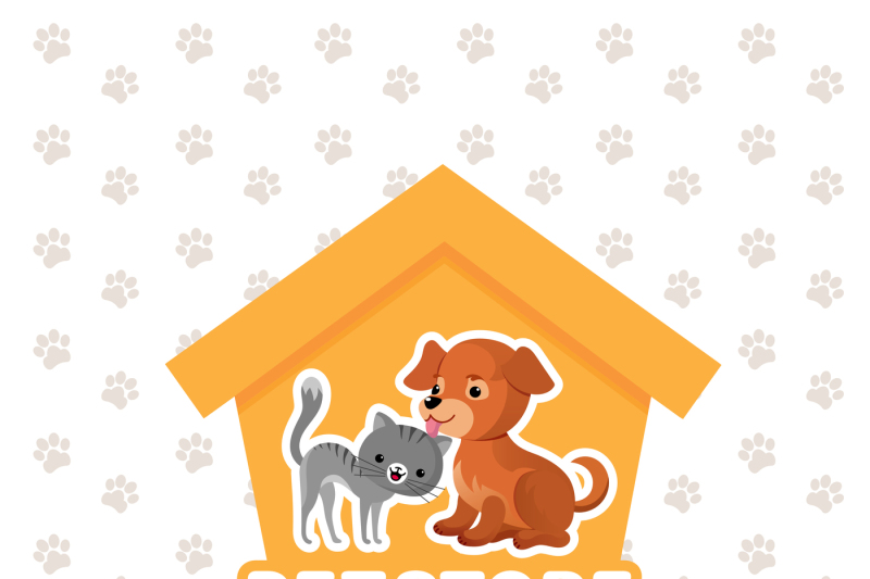 pet-store-vector-background-with-happy-pets-animals