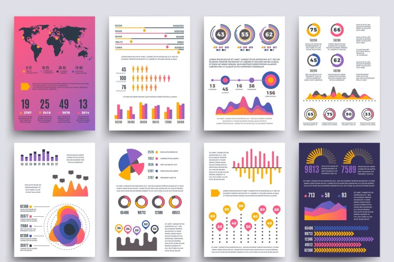 graphical-business-report-vector-template-with-modern-style-charts-and