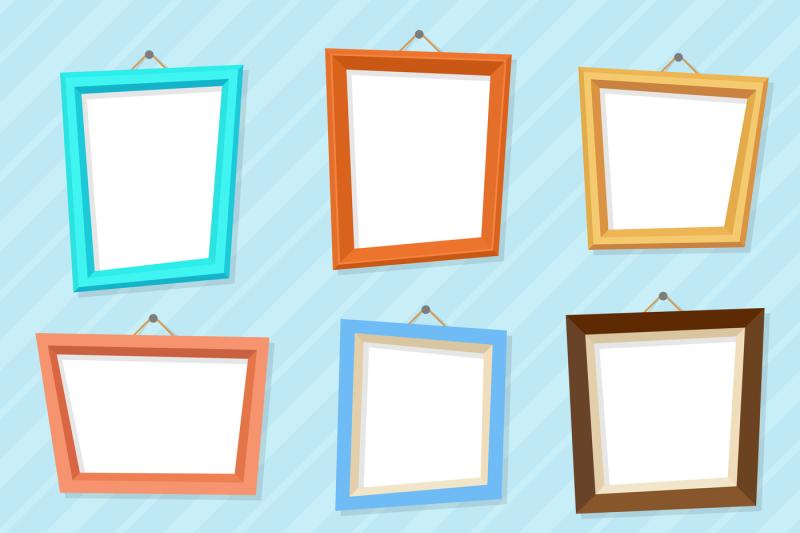 vector-cartoon-photo-picture-creative-wall-frames