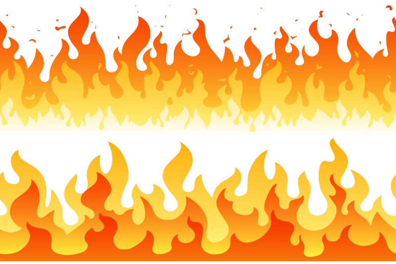cartoon-fire-flame-vector-seamless-frame-borders