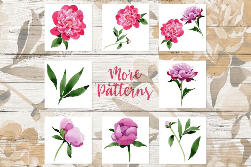 pink-peonies-wotercolor-png