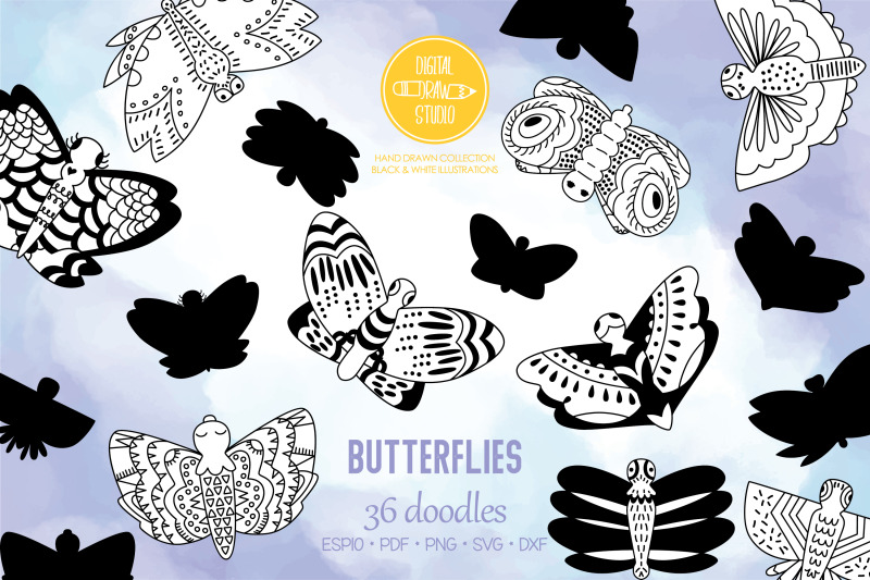 hand-drawn-butterflies-moth-insect-flying-bugs