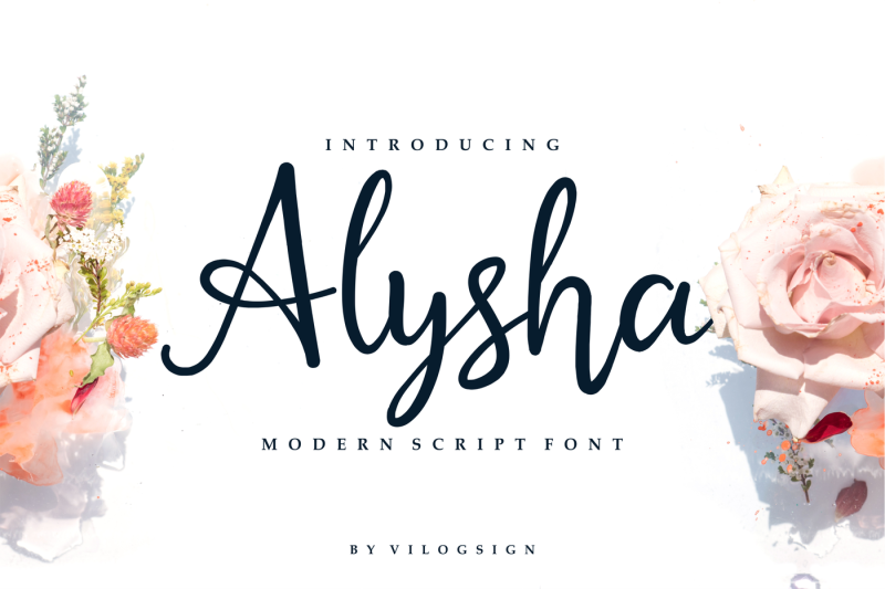 alysha-modern-script-font