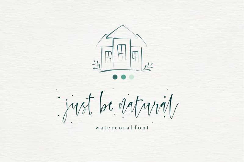 watercoral-natural-script-font