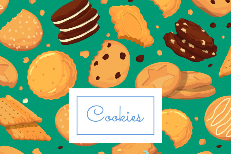 vector-background-with-cartoon-cookies-and-place-for-text