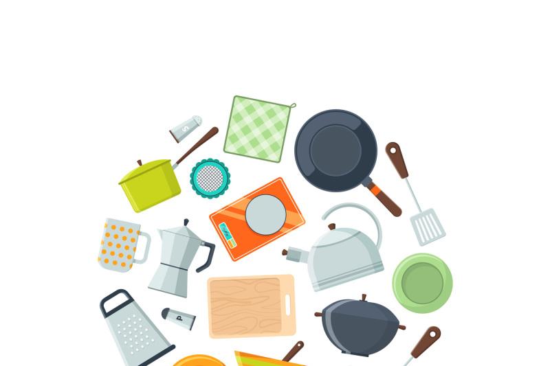 vector-kitchen-utensils-flat-icons