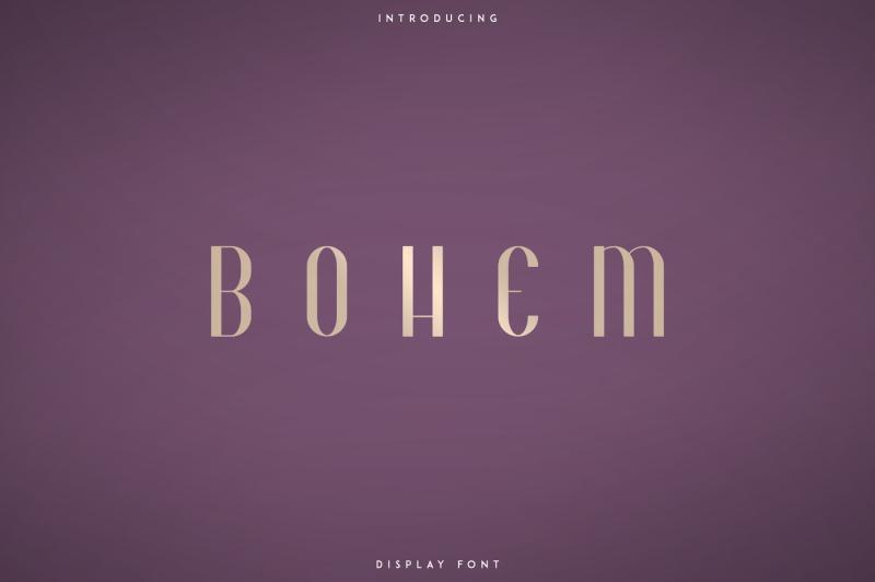 bohem-display-font-2-styles