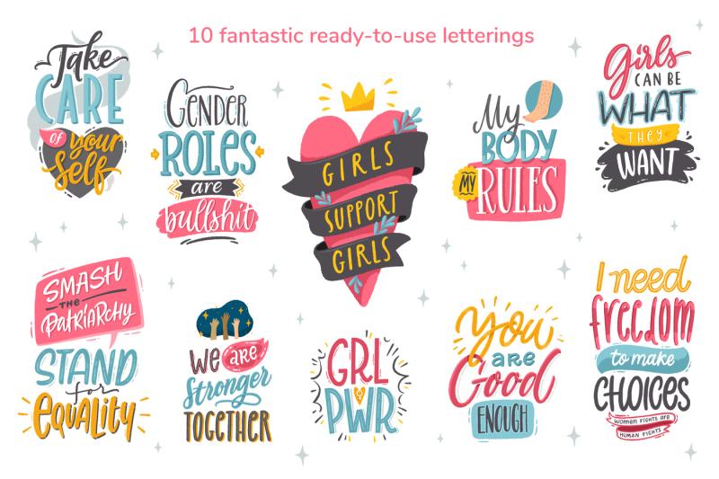 feminism-vector-letterings-graphics