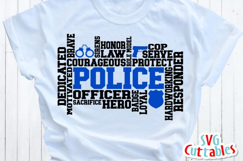 police-word-art-cut-file