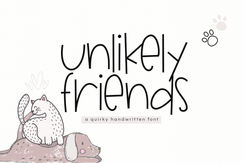 unlikely-friends-a-quirky-handwritten-font