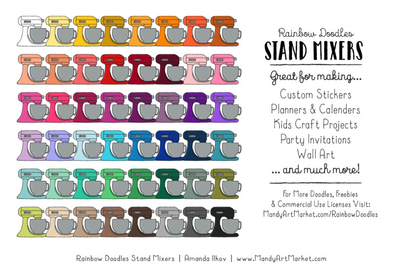 rainbow-doodles-stand-mixer-clipart