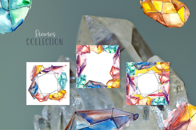 crystals-watercolor-lilac-color-png