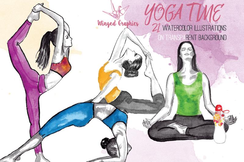 yoga-practice-watercolor-illustrations