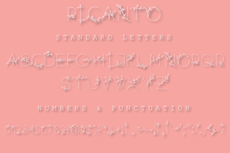 picanto-floral-font-all-caps
