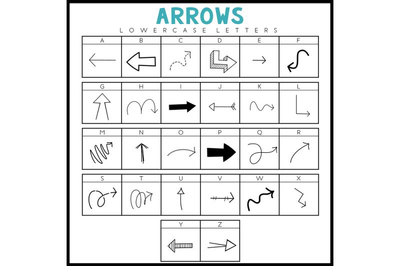 arrows-a-doodle-dingbat-font