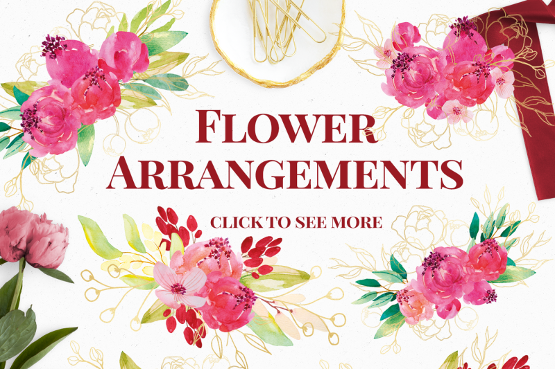 crimson-and-gold-watercolor-florals-clip-art-set