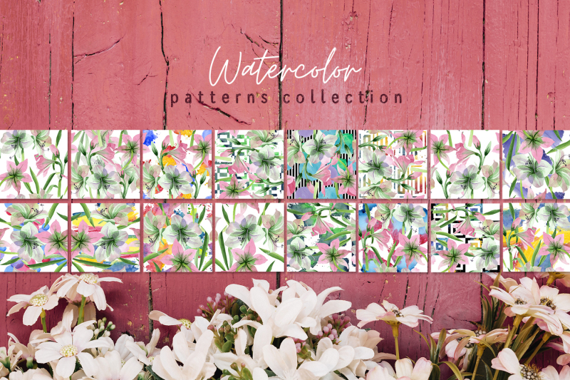 pink-amaryllis-nbsp-watercolor-png
