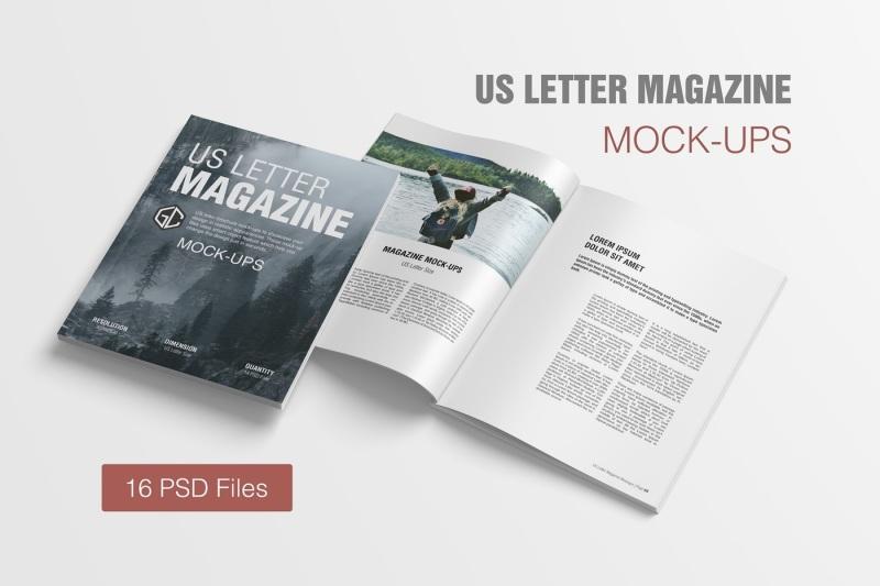 Free US Letter Size Magazine Mockup (PSD Mockups)