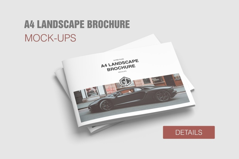 Free A4 Landscape Brochure Mockup (PSD Mockups)