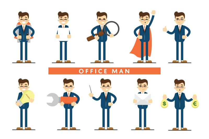 set-of-diverse-isolated-vector-office-people-full-lenth