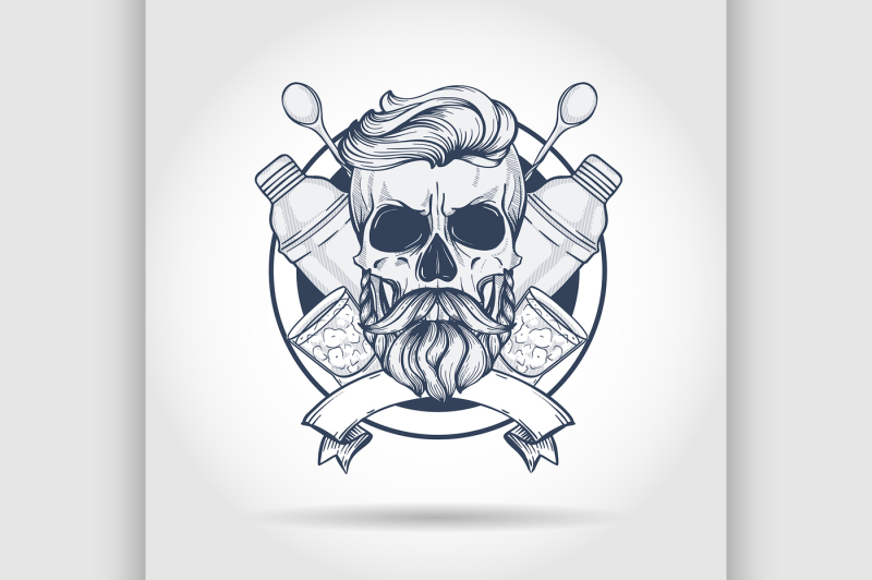 sketch-barman-skull