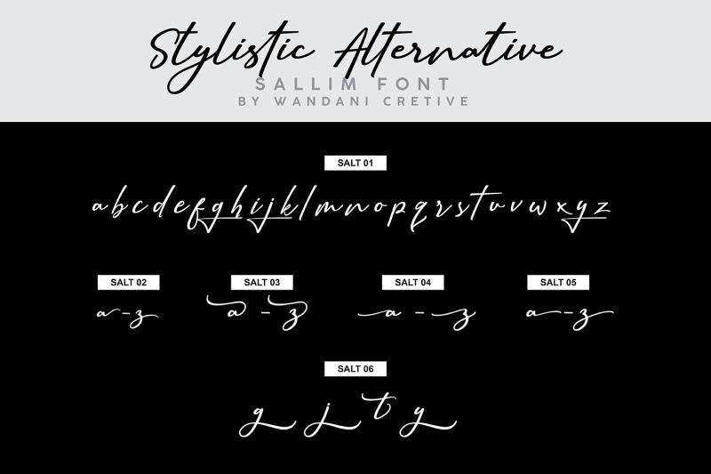 sallim-signature-font