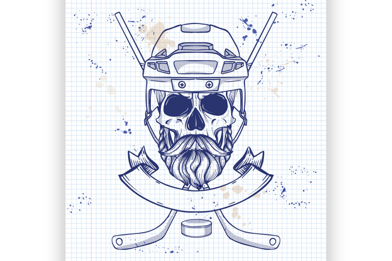 hockey-player-skull