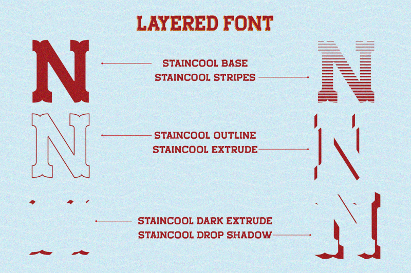 staincool-layered-font