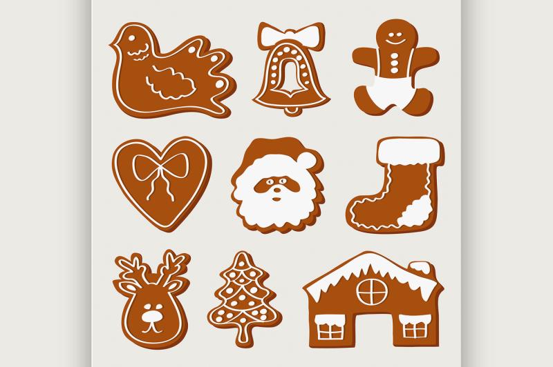 vector-set-of-gingerbread-cookies