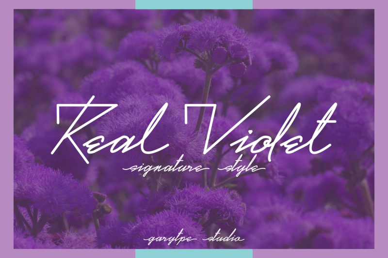 real-violet-signature-style