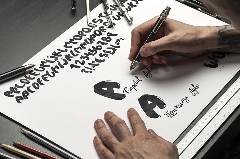 woys-brush-typeface