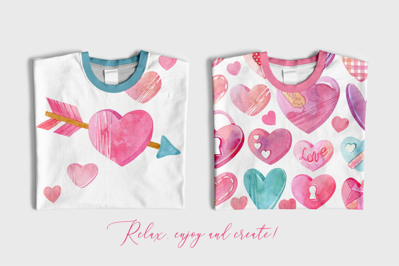 watercolor-hearts-collection