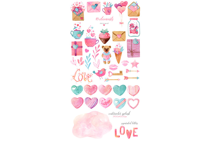 watercolor-valentines-day-collection