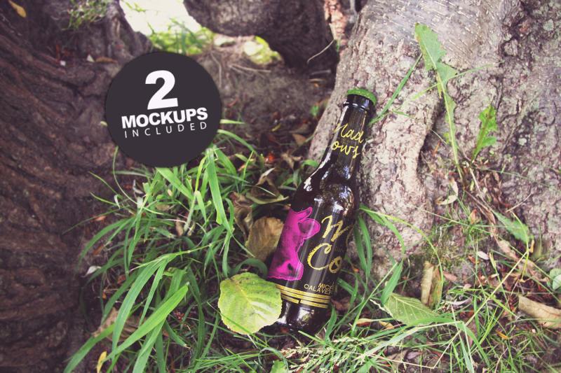Free Green Nature Floor Duo (PSD Mockups)
