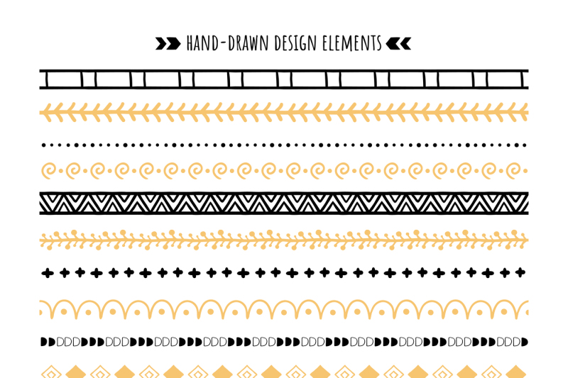tribal-brush-hand-drawn-ethnic-ornaments-aztec-pattern-and-hipster-o