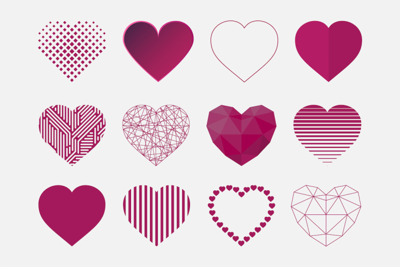 hearts-icon-set-in-different-styles