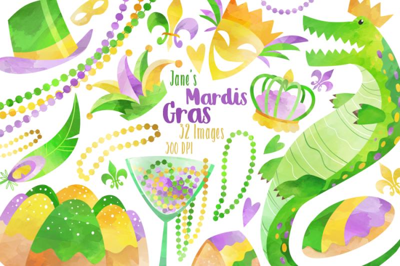 watercolor-mardi-gras-clipart