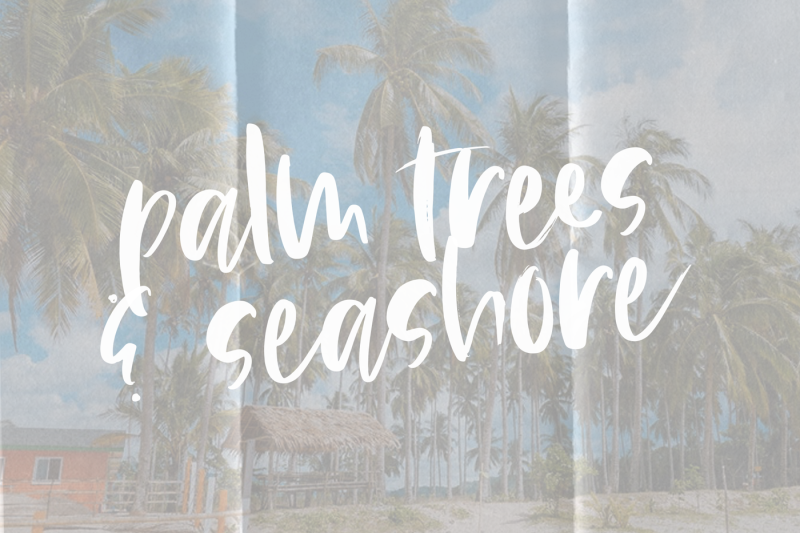 island-tea-handwritten-brush-font